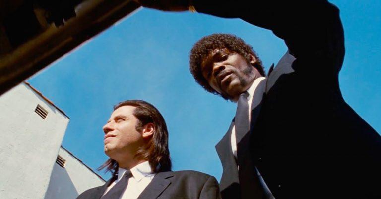 Vincent Vega (John Travolta) and Jules Winnfield (Samuel L. Jackson) open a trunk in Quentin Tarantino's Pulp Fiction