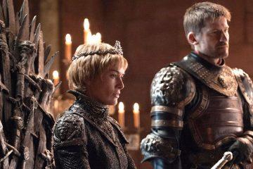 Cersei Lannister (Lena Headey) sits on the Iron Throne alongside Jaime Lannister (Nikolaj Coster-Waldau) in season seven of Game of Thrones