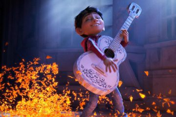 Miguel and his guitar in Pixar's COCO