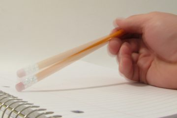 Tapping a pencil is writer's block personified, by Rennett Stowe