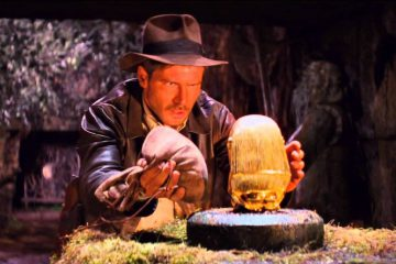 Harrison Ford as Indiana Jones in the opening scene of Raiders of the Lost Ark