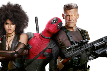 Domino (Zazie Beetz), Deadpool (Ryan Reynolds), and Cable (Josh Brolin) in Deadpool 2