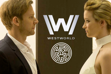 Jimmi Simpson as William and Tallulah Riley as Angela in HBO's Westworld
