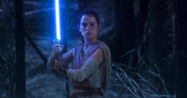 Daisy Ridley stars as Rey in Star Wars: The Force Awakens